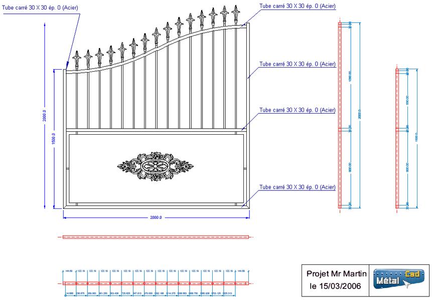 plan technique portail. Black Bedroom Furniture Sets. Home Design Ideas